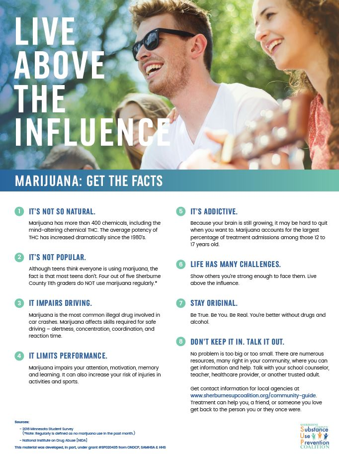 JPG version of the Sherburne COunty SUP Coalition Marijuana Poster